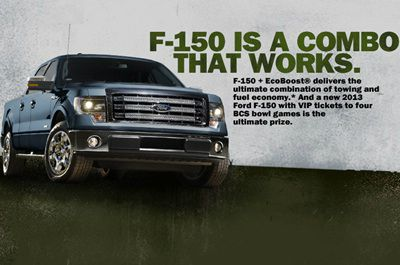 Ford.com Ultimate Combo 2012 Promotion